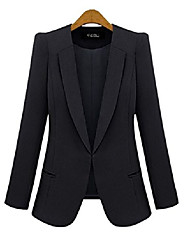 cheap -(tm ladies fashion sim blazer suit coat black