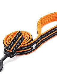 cheap -soft padded dog lead 43 inch / 110cm, 3m reflective outdoor adventure dog leash for large, medium & small pet dogs (s (110 * 1.5cm), orange)