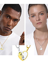 cheap -Women's Couple's Pendant Necklace Necklace Cat Animal Romantic Fashion Cute Stainless Steel Gold Black 50+5 cm Necklace Jewelry For Wedding Gift Engagement