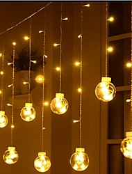 cheap -Round Ball LED Lighting Chain Wish Orbs Christmas Wedding Ins Decorative Small Colored Lights Flashing Lights Curtain Lights Hanging Lights