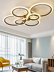 cheap -4 6 8 Heads LED Ceiling Light Nordic Style APP Control with 2.4G Remote Control or OFF ON Control Three Color Ceiling Lamp Acrylic Ceiling Panel Lamp Unique Minimalist Livingroom Pendant Light AC220V