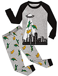 cheap -boys dinosaur pajamas cotton short sets children pyjamas sleepwears (white,2t)