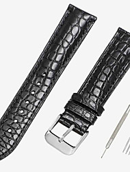 cheap -Genuine Leather / Crocodile Watch Band Black / Brown 18cm / 7 Inches / 19cm / 7.48 Inches 1.2cm / 0.47 Inches / 1.4cm / 0.55 Inches / 1.6cm / 0.6 Inches