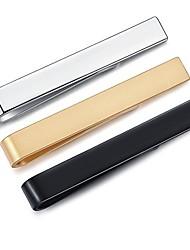 cheap -3pcs mens boys skinny tie clip set tie bar for narrow tie gift 4cm silver black gold with box