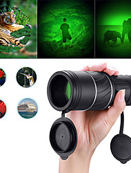 cheap -40 X Monocular Waterproof High Definition Easy Carrying Hiking Camping / Hiking / Caving Traveling