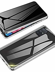 cheap -anti-spy case for samsung galaxy a51,  360 degree front and back privacy tempered glass cover, anti peeping screen, magnetic adsorption metal bumper for samsung galaxy a51 (silver)