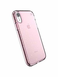 cheap -products compatible phone case for apple iphone xr, presidio clear + glitter case, bella pink with gold glitter/bella pink