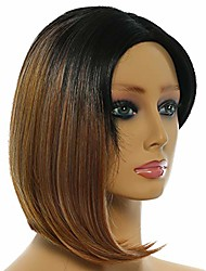 cheap -synthetic short wig straight afor wig bob wig color wig beautiful wig asymmetric wig african american wig cosplay wig party wig fashion wig lightweight breathable wig-4 color optional (dark gold)