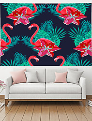 cheap -Wall Tapestry Art Decor Blanket Curtain Picnic Table Cloth Hanging Home Bedroom Living Room Decoration Polyester Red Flower Plant Flamingo Animal