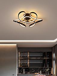 cheap -45/55 cm LED Ceiling Light Modern Nordic Circle Black White Gold Cluster Design Living Room Bedroom Metal Painted Finishes 220-240V