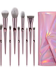 cheap -10 Pcs Make-Up Brush Fingerprint Handle Makeup Brush Set Beginner Beauty Tools Multi-Functional Makeup Brush