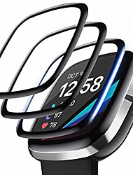 cheap -4-pack Smartwatch Screen Protector compatible with fitbit sense/versa 3, 3d full coverage Smartwatch Screen Protector curved edge waterproof protective cover saver for sense smartwatch