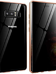 cheap -galaxy note 8 privacy glass case all-inclusive clear double sided tempered glass magnet absorption metal bumper frame protective case for samsung galaxy note 8,gold