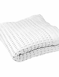 cheap -premium hand towel 100% natural cotton lattice waffle weave, lint free extra soft feel, highly absorbent and fast drying, modern design fade resistant colors (white)