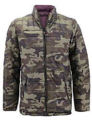 cheap -mens reversible camo lightweight insulated quilted packable puffer zipper jacket (burgundy, m)