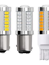 cheap -1156 BA15S 1157 BAY15D 7443 P21W 3157 LED  Car Light Bulbs 12V 5730 33 LED Car Backup Light Turn Signal Lights Tail Lights Brake Lights Daytime Running Lights White yellow 2pcs
