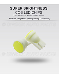 cheap -10pcs T10 COB W5W Car Interior LED Wedge Door Instrument Side Bulb License Plate Lamp Car Light 7-Colors Source DC 12V