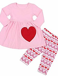 cheap -girls valentine's day pink hearts legging set 1-2t
