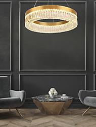 cheap -80 cm Ring Design Chandelier Chandelier Gold Pendant Light Gold Luxurious Modern Sumptuous 110-120V 220-240V
