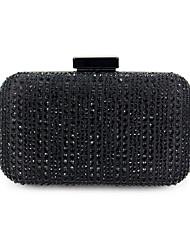 cheap -Women's Bags Polyester Alloy Evening Bag Glitter Crystals Rhinestone Fashion Wedding Bags Wedding Party Black