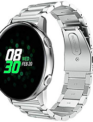 cheap -compatible with 2019 40mm sm-r500 samsung galaxy watch active band stainless steel garmin vivoactive 3 gear s2 classic bracelet amazfit bip wristband huawei watch 2 strap (silver)