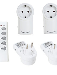 cheap -EU-1TX4RX EU Smart Socket Remote Control Power Outlet Wireless Light Switch Plug Smart Home Mains EU Plug