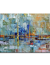 cheap -Mintura Large Size Hand Painted Abstract Oil Painting on Canvas Modern Wall Art Picture For Home Decoration No Framed