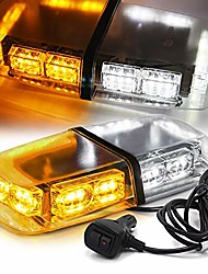 """cheap -12"""" 36 led 18 watts emergency hazard warning security roof top flash strobe mini light bar with magnetic mount, for plow or tow truck construction vehicle white amber"""
