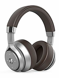 cheap -noise reduction headphones,bluetooth wireless over ear headset with hi-fi heavy bass,68hrs playtime,fast charging for travel work tv pc cellphone,brown