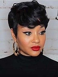 cheap -short wigs for black women human hair short pixie wigs layered cut hair natural wavy