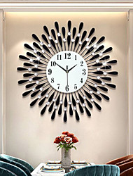 cheap -Iron Creative Clock Hanging Clock Living Room Decorative Clock Electronic Quartz Clock