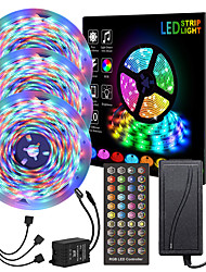 cheap -15M LED Strip Lights RGB LED Light Strip Music Sync Can be Timed  LED Strip 10M 15M 20M 2835 SMD Color Changing LED Strip Light and 40 Keys Remote Controller for Bedroom Home TV Back Lights
