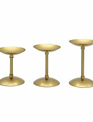 cheap -3 pcs gold pillar votive candle holder centerpiece, table decoration iron candlestick holder for home decor party frieplace candelabra