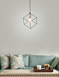 cheap -1-Light Vintage Black Metal Cage Loft Mini Pendant Lights Modern Living Room Dining Room Hallway Light Fixture
