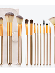 cheap -Professional Makeup Brushes 12pcs Soft Full Coverage Lovely Comfy Wooden / Bamboo for Makeup Tools Eyeliner Brush Blush Brush Foundation Brush Makeup Brush Lip Brush Lash Brush Eyeshadow Brush