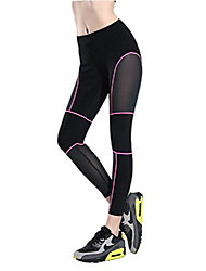 cheap -women's high waist mesh panel tights workout yoga pants running leggings rose tagl