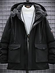 cheap -Men's Down Parka Check POLY White / Black M / L / XL