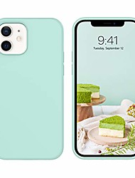 "cheap -case compatible with iphone 12/12 pro, soft silicone gel rubber bumper anti-slip microfiber lining hard back shockproof protective phone cover for iphone 12/pro 5g 6.1"" 2020 - mint"
