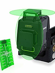 cheap -2x360 cross line laser, self-leveling green beam laser level dual plane leveling and alignment line laser level -one 360° horizontal and one 360° vertical line -magnetic pivoting(ak2cg)