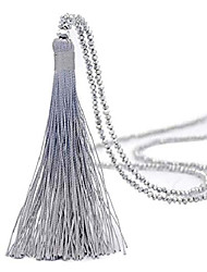 cheap -long tassel necklace handmade turquoise pearl crystal beads necklace for women fashion jewelry