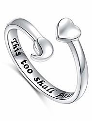 Недорогие -S925 серебро нерегулируемое сердце точка с запятой это тоже пройдет кольцо (это тоже пройдет, 7)