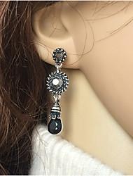 cheap -Women's Stud Earrings Drop Earrings Hoop Earrings Drop Holiday Fashion Sun Stylish Simple Vintage Punk Trendy Resin Earrings Jewelry Black For Birthday Street Date Promise Festival 1 Pair