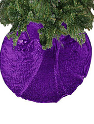 cheap -sequin tree skirt glitter christmas tree skirt cotton tree skirt colorful christmas tree skirt tree skirt for halloween (24 inch, purple)
