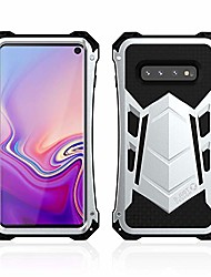 cheap -galaxy s10 case, armor aluminum alloy metal silicone hybrid military heavy duty hard defender shockproof dirtproof case protector cover for samsung galaxy s10 (silver)