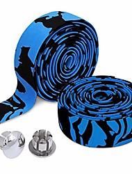 cheap -cycling camouflage series road bike handlebar tape (blue & black)