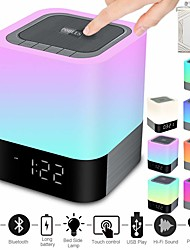 cheap -Portable Wireless Bluetooth Speaker -Big Sound48 Led Changing ColorLight Night LampAlarm ClockMP3