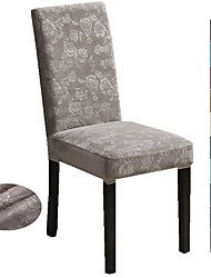 cheap -Chair Cover Solid Colored Embossed / Flocking Polyester Slipcovers
