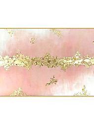 cheap -100% Hand Abstract Golden Simple Pretty Canvas Oil Painting Wall Art Picture For Living Room Aisle Modern Home Decor