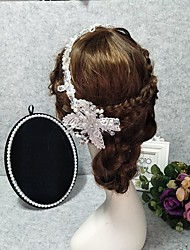cheap -Headpieces Wedding Basketwork / Beads / Alloy Tiaras / Headbands / Headpiece with Rhinestone / Faux Pearl / Lace 1 Piece Wedding / Party / Evening Headpiece