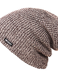 cheap -Ski Skull Cap Beanie Ski Hat Men's Windproof / Warm / Stretchy Snowboard Knit Solid Colored Skiing / Ski / Snowboard / Snowboarding Autumn / Fall / Winter golovejoy